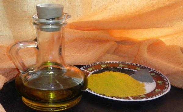 maslinovo ulje i kurkuma