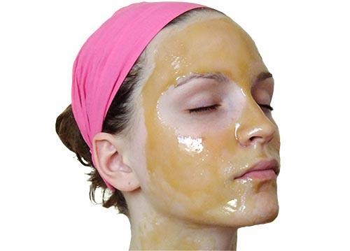 med i maslinovo ulje maska